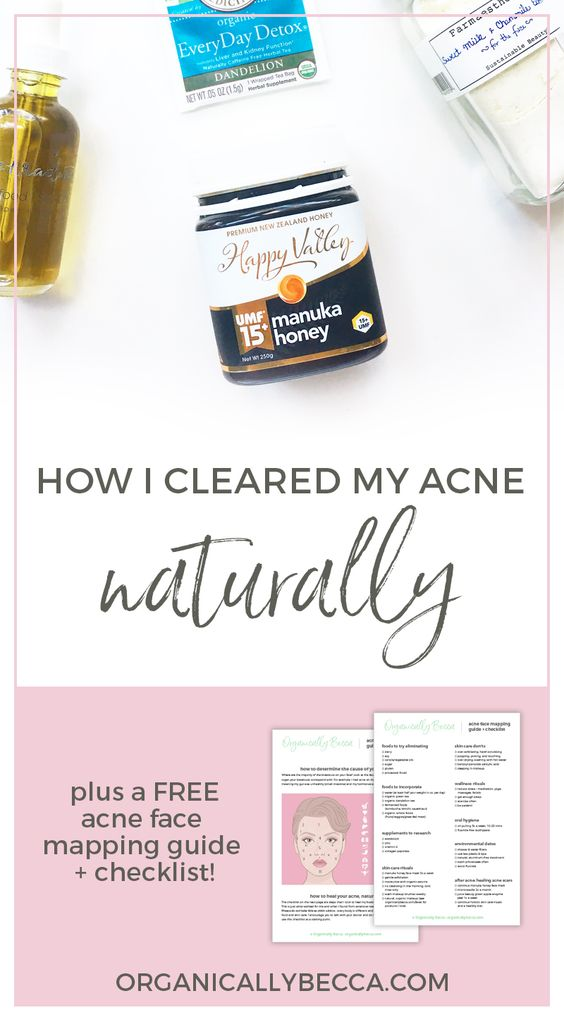 How I Cleared My Acne, Naturally • Organically Becca
