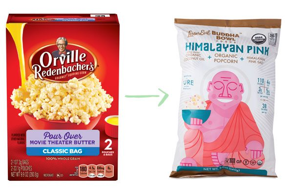 Lesser Evil Sea Salt Popcorn