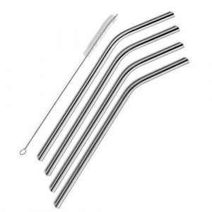 Stainless Steel Straw and Brush Set