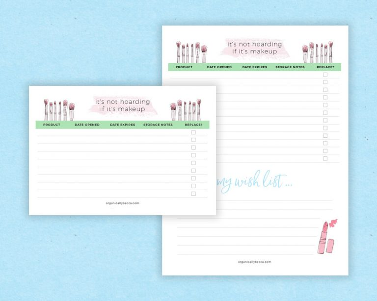 Printable + Digital Product Expiration Date Trackers