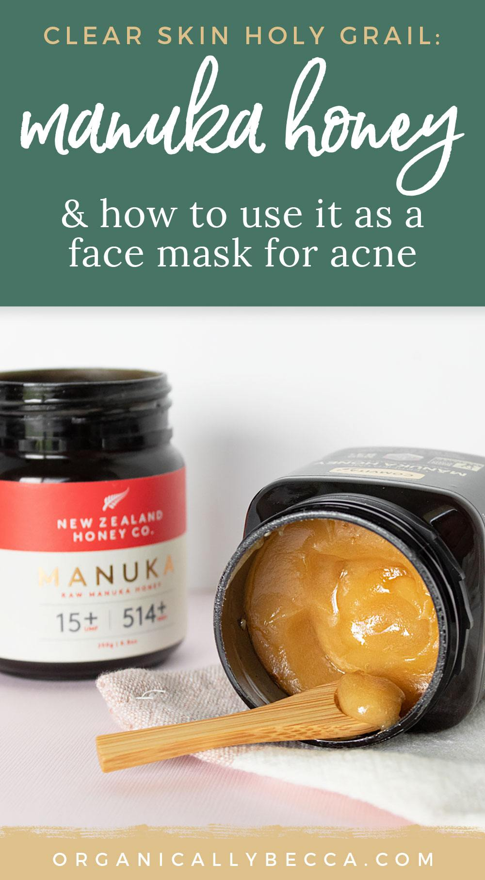 Manuka Honey Face Mask for Clear Skin