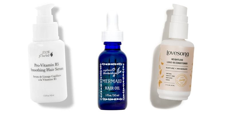 Organic hair oils and serums