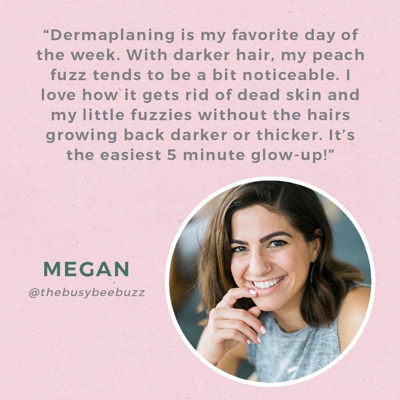Dermaplaning Testimonial for Dark Hair