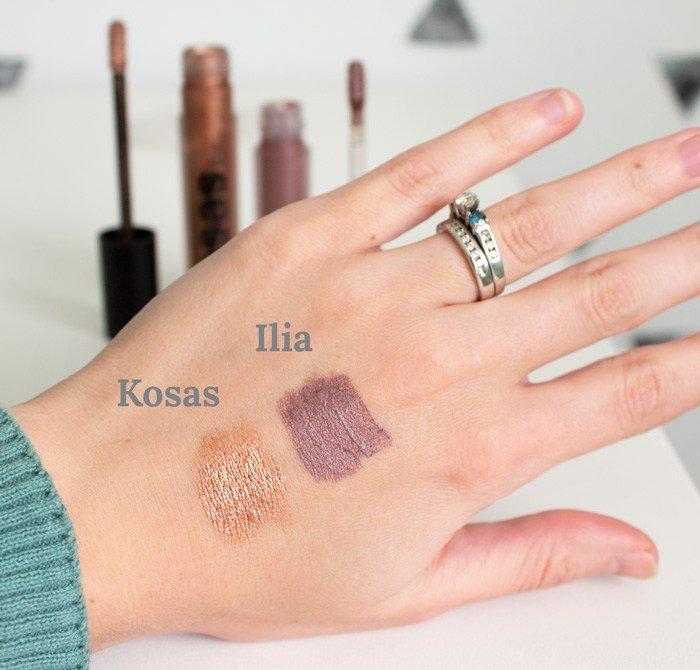Kosas 10-Second Eyeshadows vs. Ilia Liquid Powder Chromatic Eye Tints Swatches
