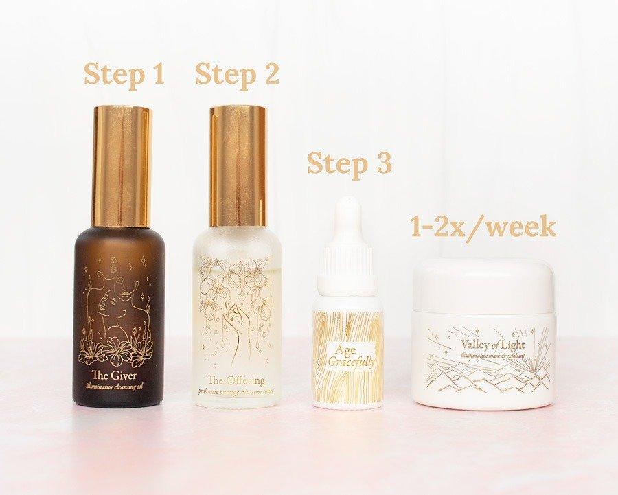 Wabi-Sabi Botanicals Skincare Routine