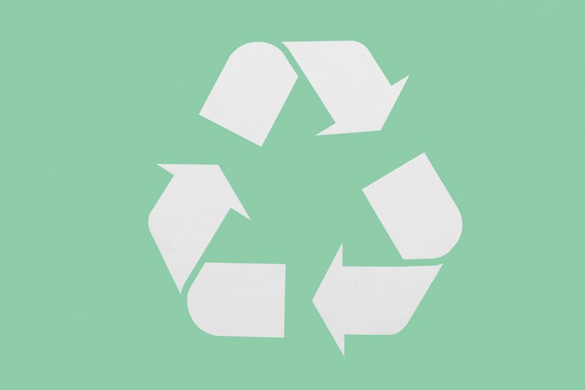 Mobius loop recycling symbol