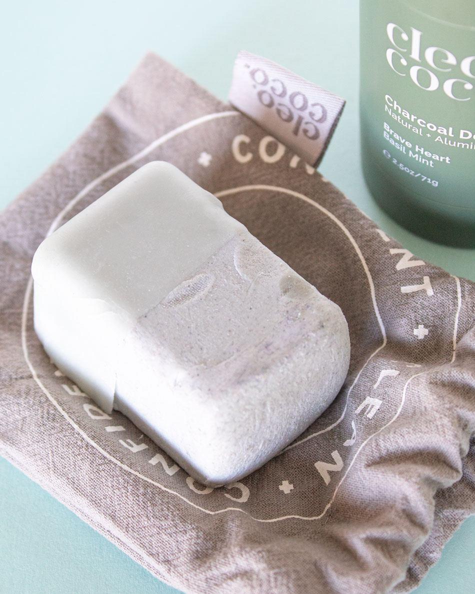 Cleo + Coco Natural Deodorant Zero Waste Bar