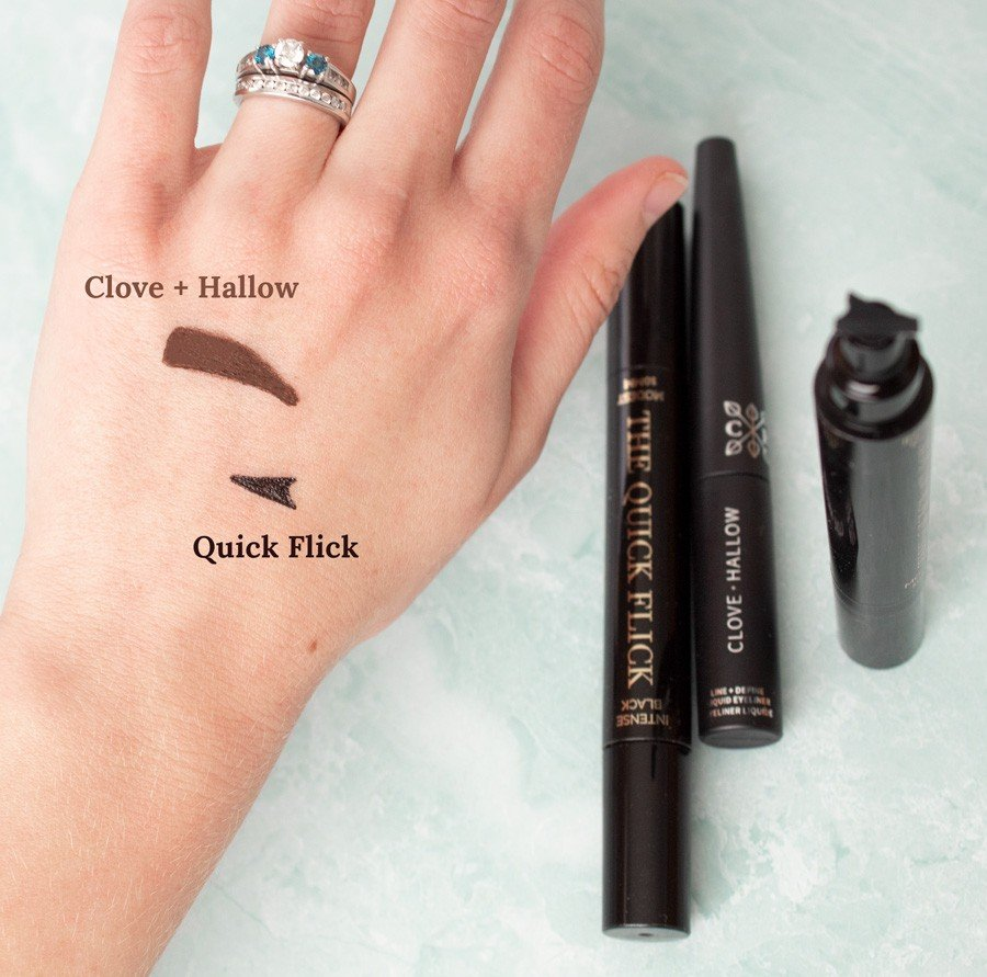 Natural liquid eyeliners