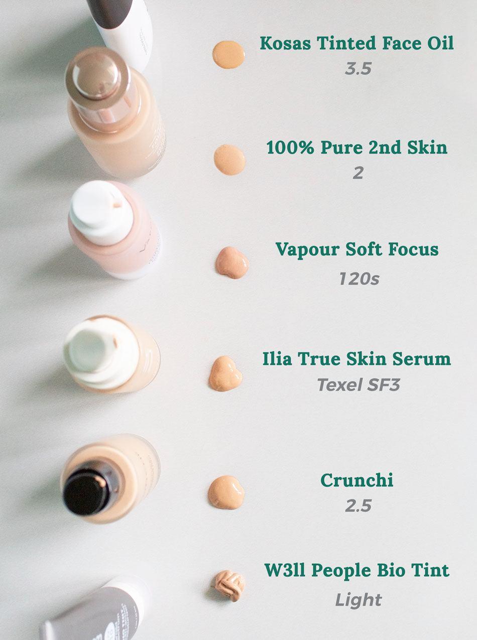 Clean Beauty Foundation Swatches