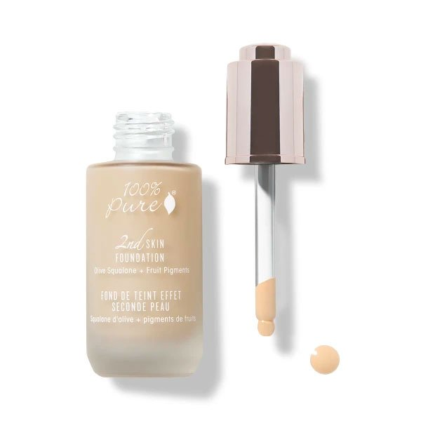 100% Pure Fruit Pigmented 2nd Skin Foundations