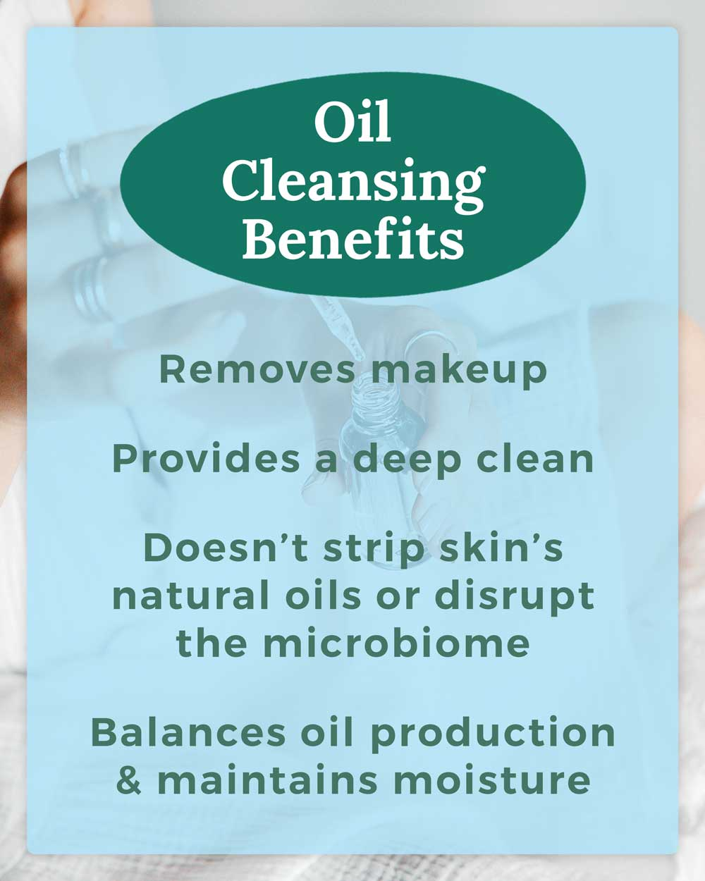 Oil Cleansing Method Skincare Benefits