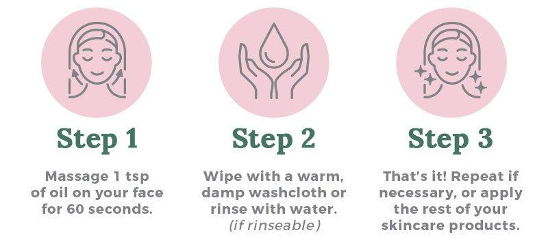 Oil Cleansing Method Steps