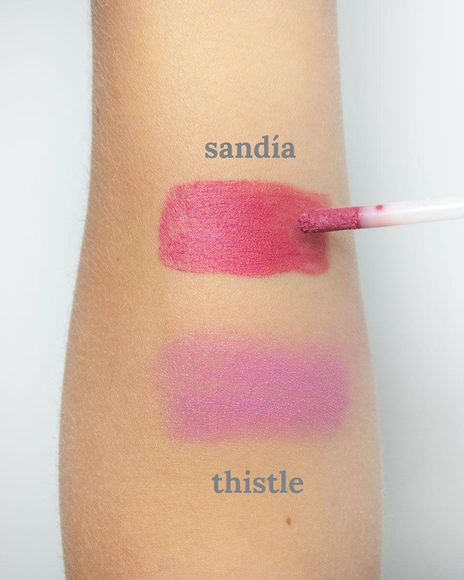Au Naturale x Organically Becca Thistle Sandia Swatches
