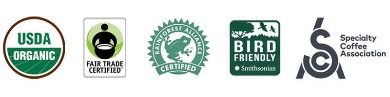 Coffee Certification Logos