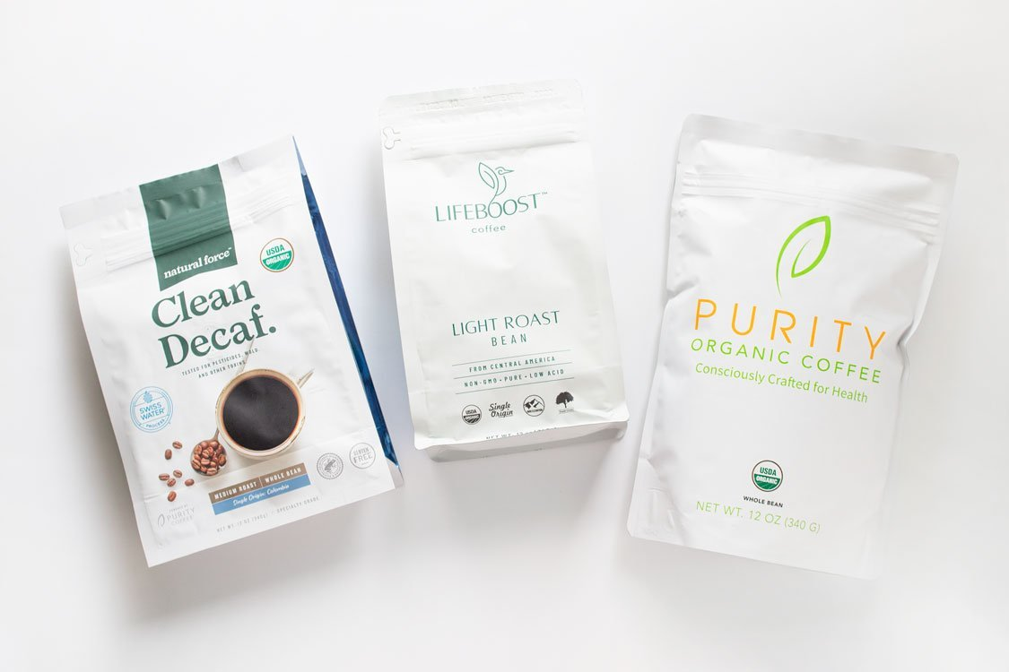Natural Force, Lifeboost, Purity Organic Coffees